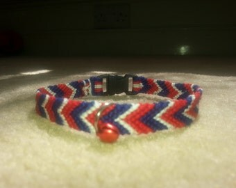 Made to Order Friendship Bracelet  Macrame Cat Collar with Bell