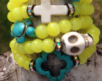 Yellow Neon Devotional Beads