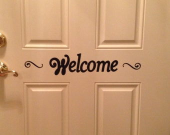 "Vinyl Wall Decal ""Welcome"" 22.5"" x 3.75"""