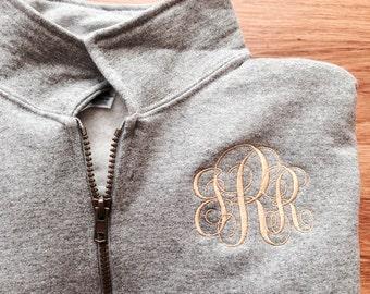 Monogram Shirts, Monogram Sweatshirt, Monogram Pullover, Monogram Jacket, Sweatshirt, Monogram quarter zip, Monogram Sweater