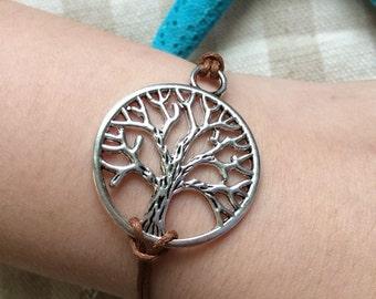 7 Colors,A tree of life bracelet.antique silver.Cute bracelet,girl gift,friendship gift