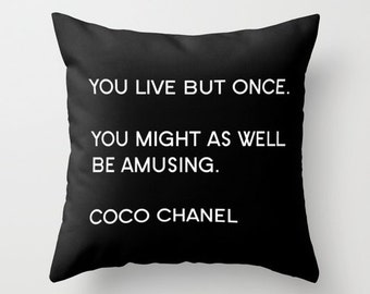 Fashion Pillow, Chanel Pillow Cover, Velvet Pillow, Chanel Cushion, Gifts for Women, Gifts for Her, Bestfriend Gift, Velvet Cushion Cover
