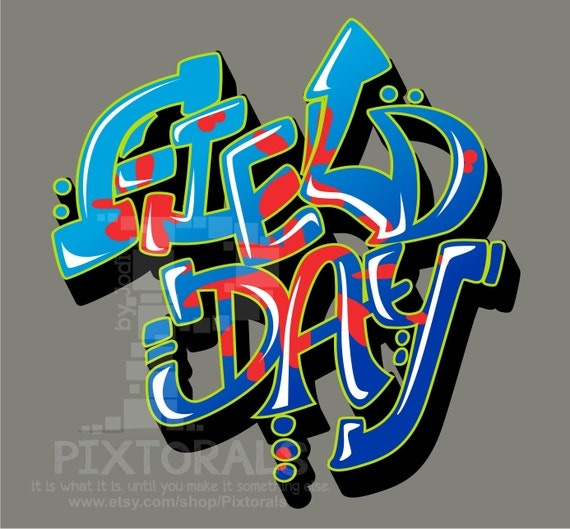 Field Day Kids Tee Shirt Design In Corel And Eps Formats As