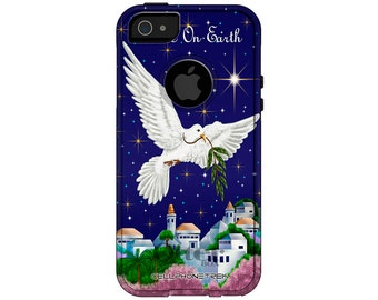 Apple iPhone 5 Otterbox Commuter Peace on Earth Dove Case for Apple iPhone 5/5S (349)