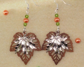 Double Maple Leaf Earrings
