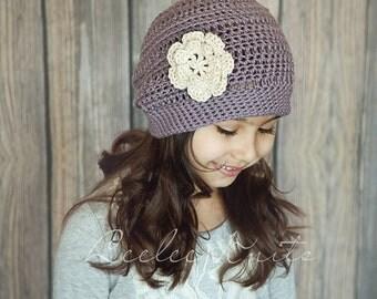 Pattern - Girl Crochet Hat Pattern Slightly Slouchy Crochet Hat Pattern
