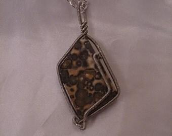 Orbicular Jasper Pendant Necklace