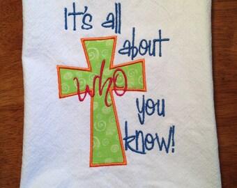 Cross Tea Towel