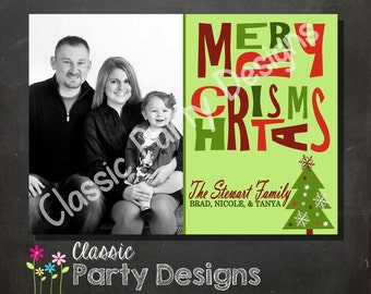Holiday Greeting Card - Digital File or Printed Cards