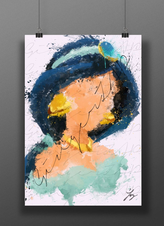Princess of the genie impressionist digital painting for Abstract impressionism definition