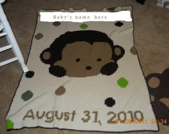 Personalized  Baby Afghans