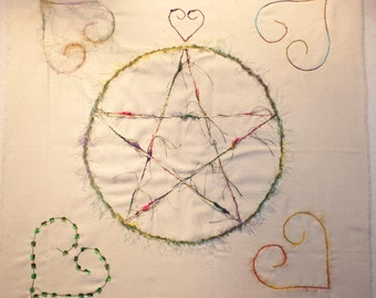 Pastel Pentacle Altar Cloth