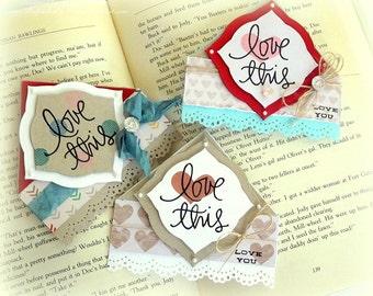 Set of 3 Corner Style Bookmarks