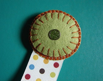 Wool Felt Dotted Circle Ribbon Bookmark