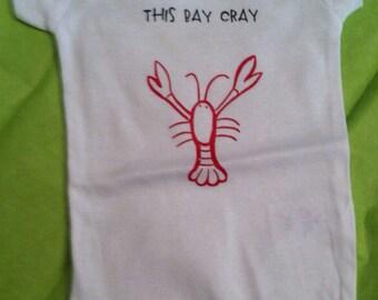 This Bay Cray Crawfish baby onesie