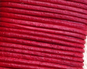 1.5mm. Leather Cord, Red (L 002)