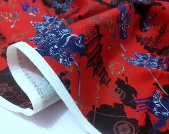 Japanese Warriors/Shiro/Shensi Cotton Fabric - 1 meter