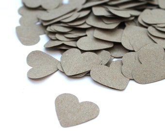 Heart Confetti, Customized hearts, Various Colours, Wedding, Table Decor, punsch, nature