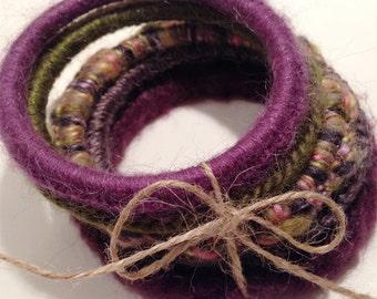Color Therapy Bangle Bracelet - PURPLE/GREEN