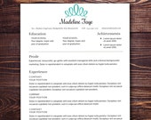 Resume Template - The Faye Resume Design Instant Download Customizable Resume Template for Word Pages