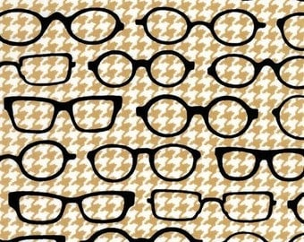 Fox and Houndstooth by Robert Kaufman, (eyeglasses, glasses, specticles, reading)