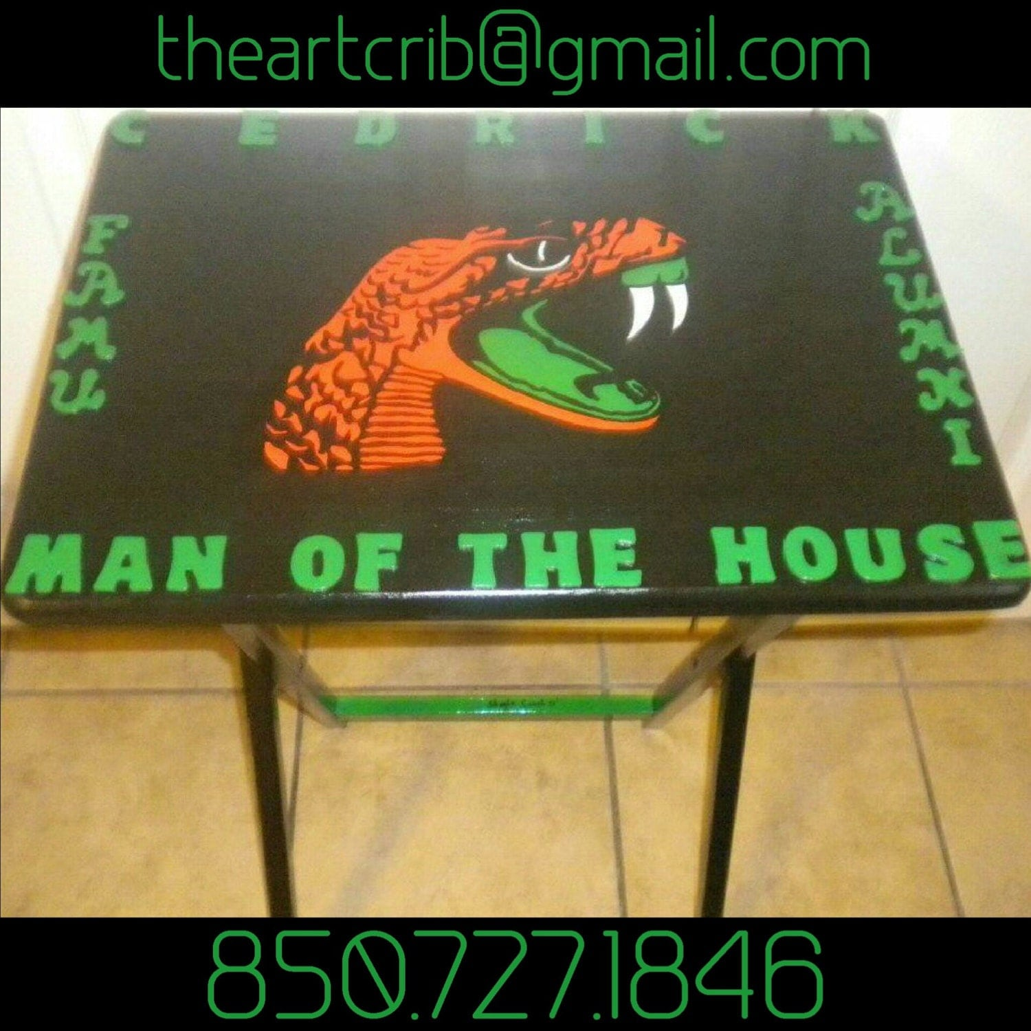 e77c8148c 219 Best FAMU Images On Pinterest · Famu Rattlers Art: FAMU Rattlers Hand  Painted Table. By TheArtCrib On Etsy