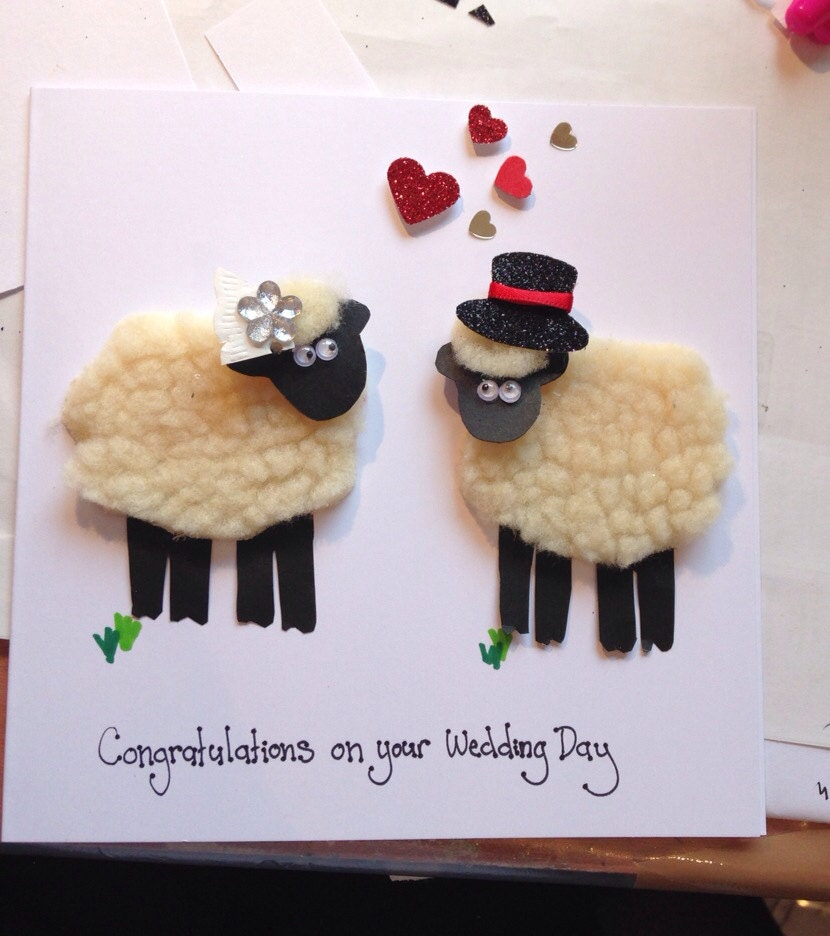 Luxury Wedding Gifts For Couple : Personalised sheep couple luxury wedding card gifts