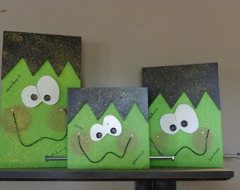 Halloween Decor- Fall Decor- Frankenstein Decor-Chunky Franky