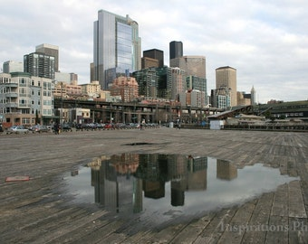 Reflection of Seattle  8x10