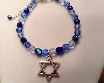 Star of David Beaded Bracelet