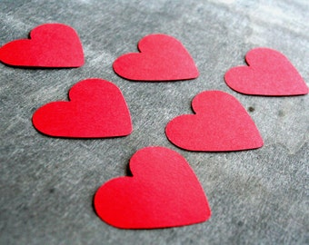 150 pcs paper HEART, 1,5 inch size, Red heart, Die cut Heart, die cut paper hearts, Love heart, table confetti, wedding confetti, red love
