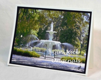 Note Cards, Notecards, Blank Note Cards, Blank Notecards, Historic Savannah, Forsyth Park, Forsyth Fountain, Savannah GA, Stationery Sets,