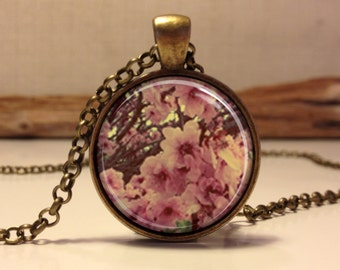 Cherry Blossom necklace.  Cherry Blossom art pendant jewelry(Cherry #3)