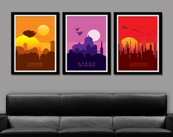 Star Wars Inspired Planets - Series 1 - Poster 154 - Home Decor, Movie Poster
