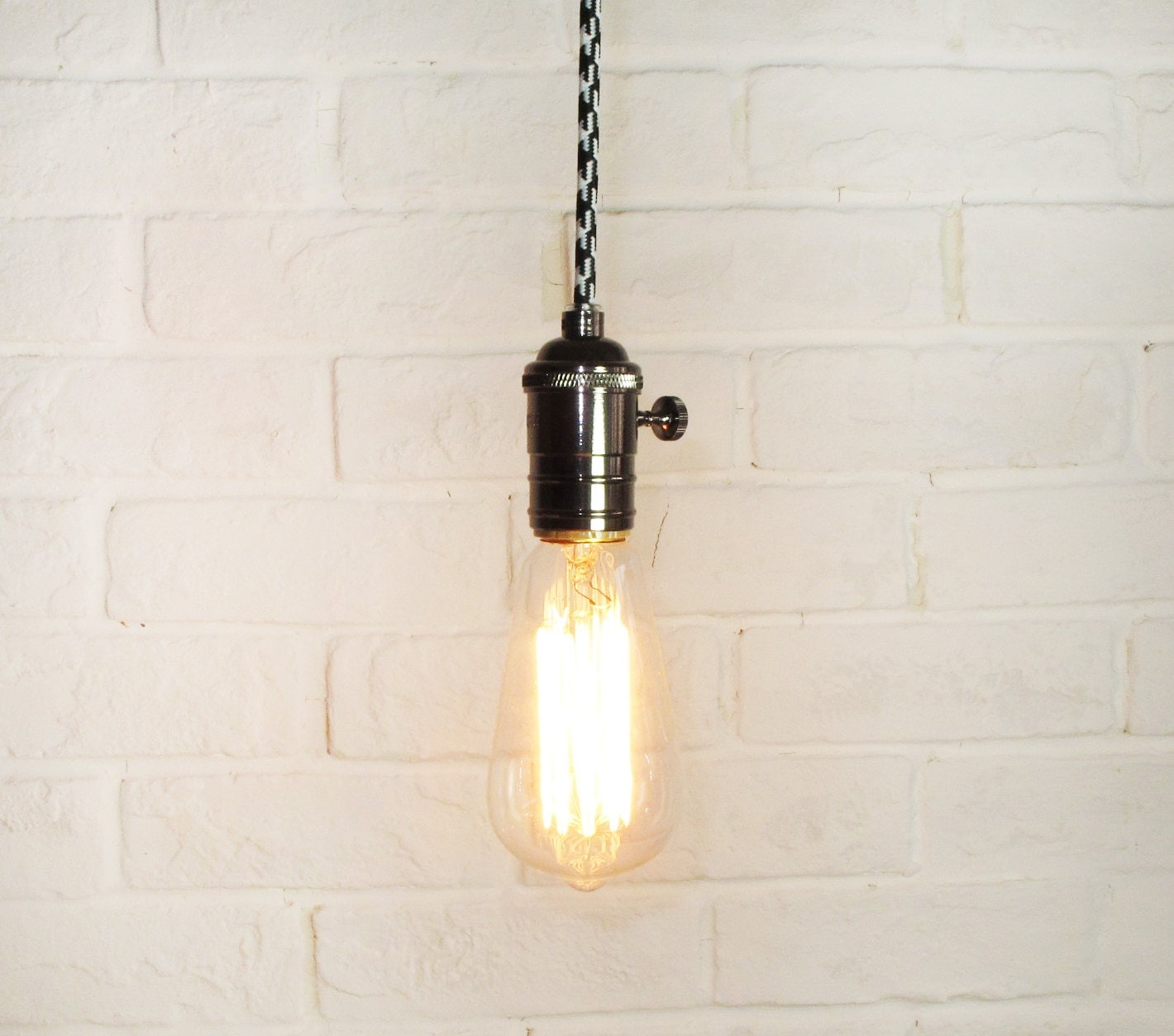 Edison bulb pendant light e27 squirrel cage by lightwithshade for Suspension ampoule