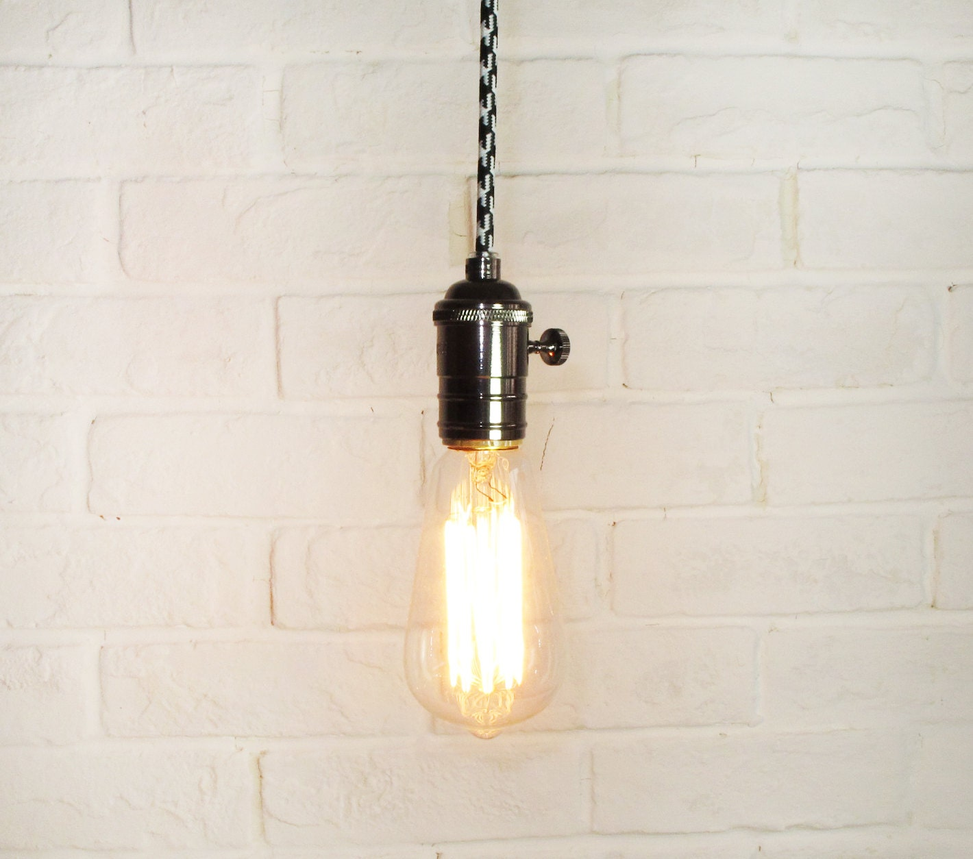 edison bulb pendant light pendant light fixture edison bulb brushed nickel. Black Bedroom Furniture Sets. Home Design Ideas