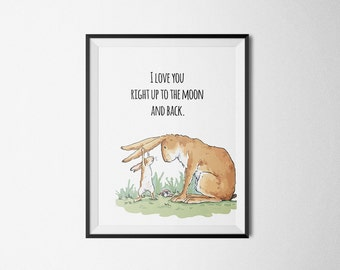 Quote I Love You To The Moon Printable Wall Picture Poster Postcard Art Digital Instant DOWNLOAD Print Jpeg Pdf