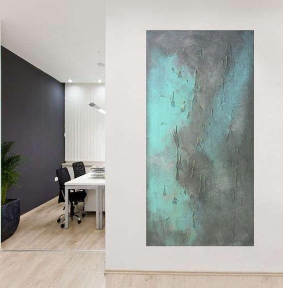 Grande dipinto astratto paesaggio dipinto acrilico di vilsanart