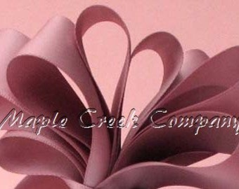 "5 yards of Rosy Mauve Satin Single Face Ribbon, 2 Widths Available: 5/8"" or 3/8"""