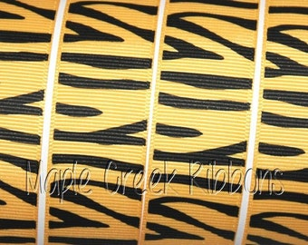 Tiger Stripe Grosgrain Ribbon 1 yard