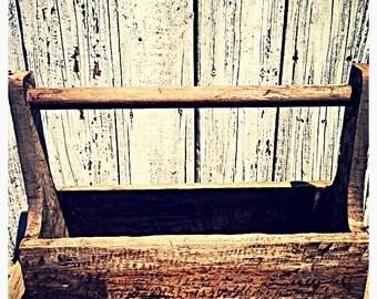 Rustic wooden carrier