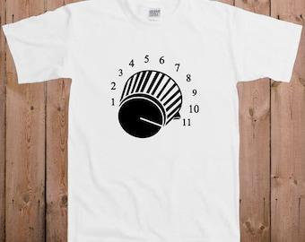Volume control guitar shirt amplifier Dj music ladies men youth women tshirt T-Shirt Tee shirt