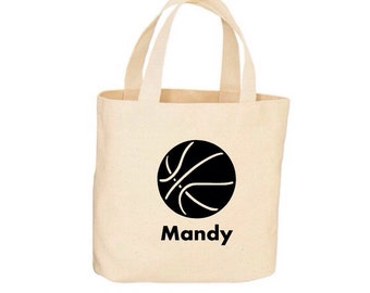 Basketball Tote - Sports Tote - Beach Bag, Tote Bag - Natural Cotton - Personalized Tote