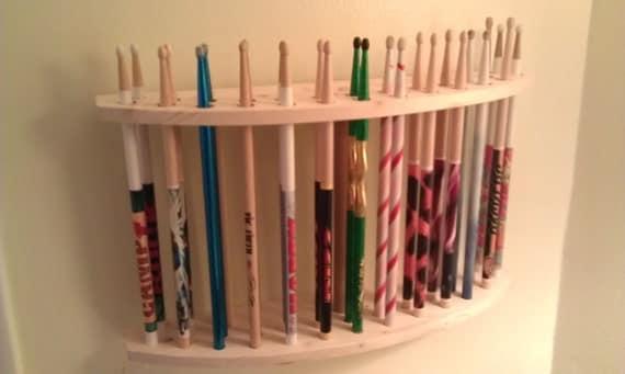 drum stick display drumstick holder solid natural cedar. Black Bedroom Furniture Sets. Home Design Ideas