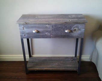 50+ year old Old Barn Wood Entry way/ Accent table