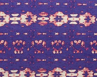 SALE! 3.00/Yard - KNIT Purple Fuchsia Tie Dye Jersey Fabric, Soft Rayon Poly Blend Jersey, Super Soft Cotton Blend Sold by the Yard 5039