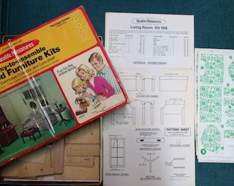 Vintage Wood Miniature Furniture Kit-PRICE REDUCED