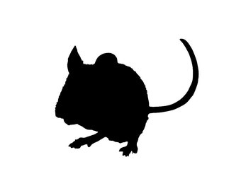 Mouse v1 Silhouette Custom Die Cut Vinyl Decal Sticker - Choose your Color and Size