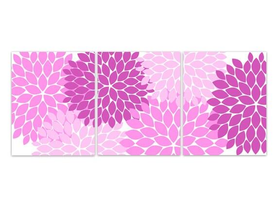 Https Www Etsy Com Listing 194195391 Home Decor Wall Art Hot Pink Flower