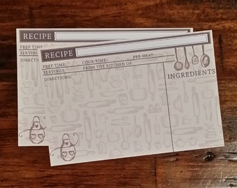set of 20 recipe cards
